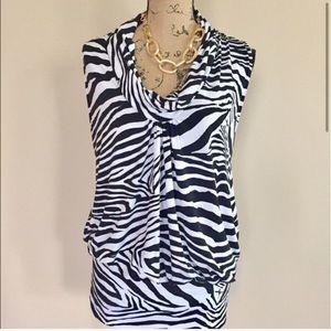 •Express• zebra print cowl tunic top